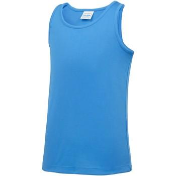 textil Niños Camisetas sin mangas Awdis JC07J Azul zafiro