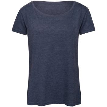 textil Mujer Camisetas manga corta B And C TW056 Marino mezcla
