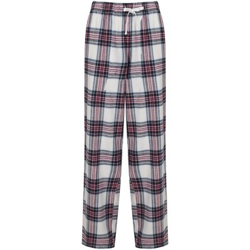 textil Mujer Pantalones fluidos Skinni Fit Tartan Cuadros Blancos/Rosas