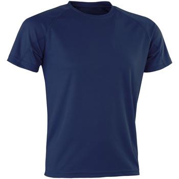 textil Hombre Camisetas manga corta Spiro Aircool Azul marino