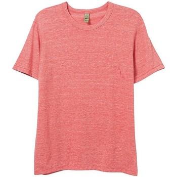 textil Hombre Camisetas manga corta Alternative Apparel AT001 Rojo Eco