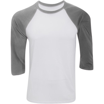 textil Hombre Camisetas manga larga Bella + Canvas CA3200 Blanco/Jaspeado oscuro