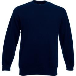 textil Hombre Sudaderas Fruit Of The Loom 62154 Azul oscuro