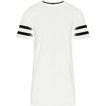 textil Hombre Camisetas manga corta Build Your Brand BY032 Blanco/Negro