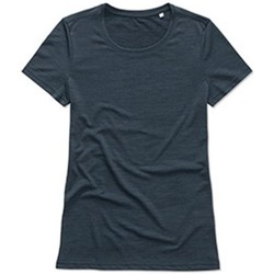 textil Mujer Camisetas manga corta Stedman  Antracita Marina