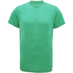 textil Hombre Camisetas manga corta Tridri TR010 Verde Jaspeado