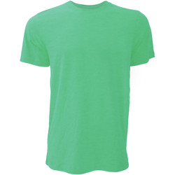 textil Hombre Camisetas manga corta Bella + Canvas CA3001 Verde Kelly Jaspeado