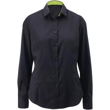 textil Mujer Camisas Alexandra AX060 Negro/Lima