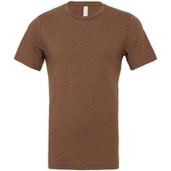 textil Hombre Camisetas manga corta Bella + Canvas CA3001 Marrón Jaspeado