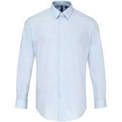 textil Hombre Camisas manga larga Premier PR207 Azul claro