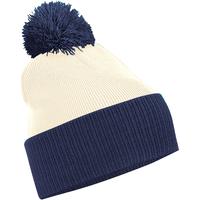 Accesorios textil Niño Gorro Beechfield B451 Blanco/azul marino