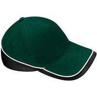 Accesorios textil Gorra Beechfield B171 Verde botella/Negro/Blanco