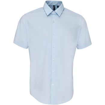 textil Hombre Camisas manga corta Premier PR209 Azul claro