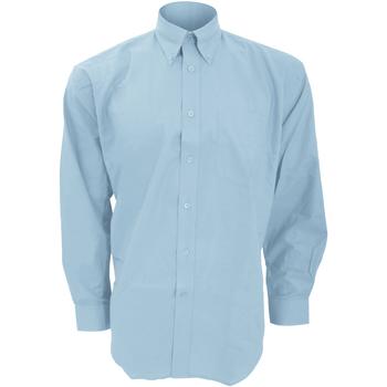 textil Hombre Camisas manga larga Kustom Kit KK351 Azul claro