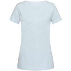 textil Mujer Camisetas manga corta Stedman Stars Sharon Azul Polvo
