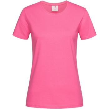 textil Mujer Camisetas manga corta Stedman  Rosa Dulce