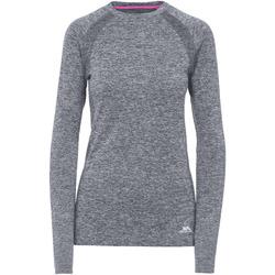 textil Mujer Camisetas manga larga Trespass  Negro Jaspeado