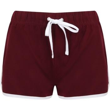 textil Mujer Shorts / Bermudas Skinni Fit SK069 Burdeos/Blanco