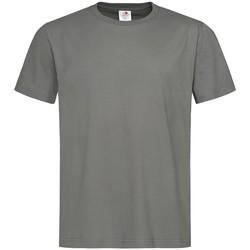 textil Hombre Camisetas manga corta Stedman  Gris Real