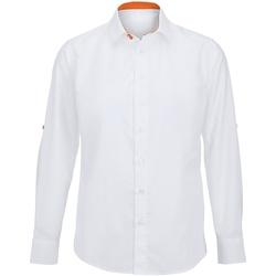 textil Hombre Camisas manga larga Alexandra Hospitality Blanco/Naranja