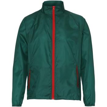 textil Hombre Cortaviento 2786  Verde botella/Rojo