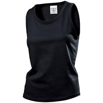 textil Mujer Camisetas sin mangas Stedman  Negro Ópalo