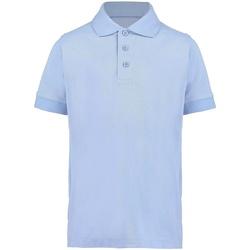 textil Niño Polos manga corta Kustom Kit KK406 Azul claro