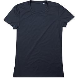 textil Mujer Camisetas manga corta Stedman  Azul Medianoche