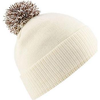 Accesorios textil Niña Gorro Beechfield Snowstar Blanco/moca