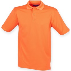textil Hombre Polos manga corta Henbury HB475 Naranja quemado