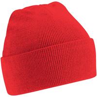 Accesorios textil Hombre Gorro Beechfield Soft Feel Rojo brillante