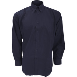 textil Hombre Camisas manga larga Kustom Kit KK351 Azul marino