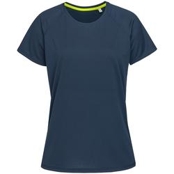 textil Mujer Camisetas manga corta Stedman  Azul King