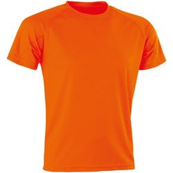 textil Hombre Camisetas manga corta Spiro Aircool Naranja Flo