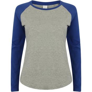 textil Niños Camisetas manga larga Skinni Fit SM271 Gris/Azul Royal