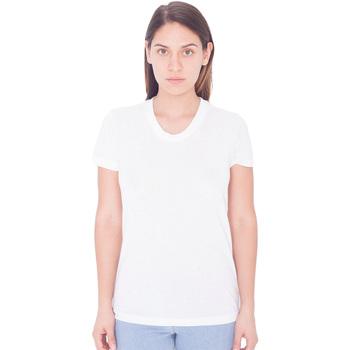 textil Mujer Camisetas manga corta American Apparel PL301W Blanco