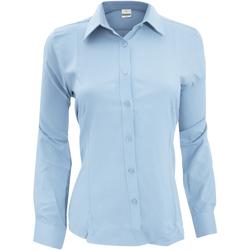 textil Mujer Camisas Henbury Wicking Azul claro