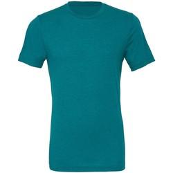 textil Hombre Camisetas manga corta Bella + Canvas CA3413 Azul teal Triblend