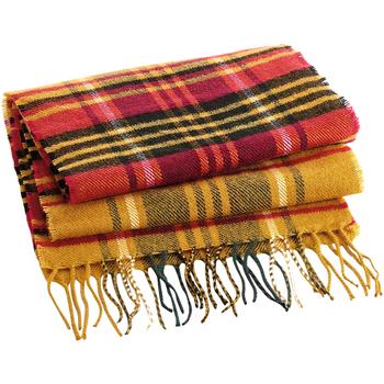 Accesorios textil Bufanda Beechfield B489 Mustaza a cuadros