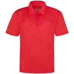 textil Hombre Polos manga corta Awdis JC040 Rojo intenso