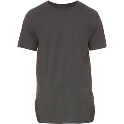 textil Hombre Camisetas manga corta Bella + Canvas Long Body Gris Oscuro Jaspeado
