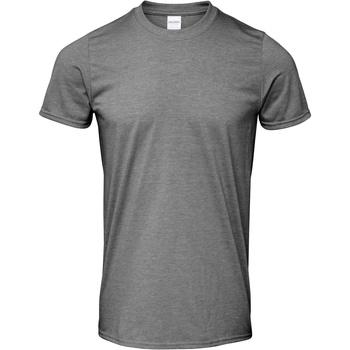 textil Hombre Camisetas manga corta Gildan Soft-Style Grafito