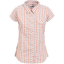 textil Mujer Camisas Trespass Tilley Cuadros Naranja