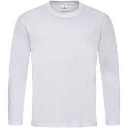textil Hombre Camisetas manga larga Stedman  Blanco