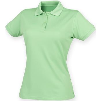 textil Mujer Polos manga corta Henbury Coolplus Verde lima