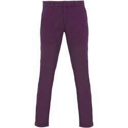 textil Mujer Pantalones chinos Asquith & Fox Chino Púrpura