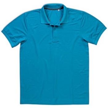 textil Hombre Polos manga corta Stedman  Azul Hawaii
