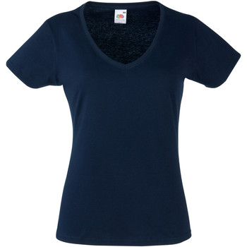 textil Mujer Camisetas manga corta Fruit Of The Loom 61398 Azul oscuro