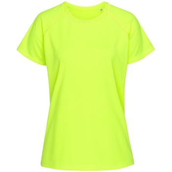 textil Mujer Camisetas manga corta Stedman  Amarillo Cyber