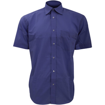textil Hombre Camisas manga corta Kustom Kit KK102 Azul oscuro